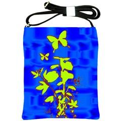 Butterfly blue/green Shoulder Sling Bag