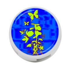 Butterfly Blue/green 4 Port Usb Hub (two Sides)