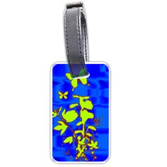 Butterfly Blue/green Luggage Tag (two Sides)