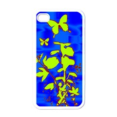 Butterfly Blue/green Apple Iphone 4 Case (white)