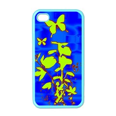 Butterfly Blue/green Apple Iphone 4 Case (color)