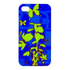 Butterfly blue/green Apple iPhone 4/4S Hardshell Case