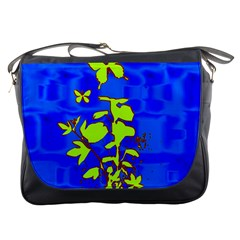 Butterfly blue/green Messenger Bag