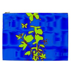 Butterfly blue/green Cosmetic Bag (XXL)