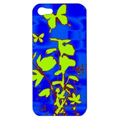 Butterfly Blue/green Apple Iphone 5 Hardshell Case