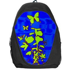 Butterfly blue/green Backpack Bag