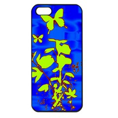 Butterfly Blue/green Apple Iphone 5 Seamless Case (black)