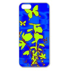 Butterfly blue/green Apple Seamless iPhone 5 Case (Clear)
