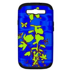 Butterfly Blue/green Samsung Galaxy S Iii Hardshell Case (pc+silicone)