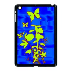 Butterfly blue/green Apple iPad Mini Case (Black)