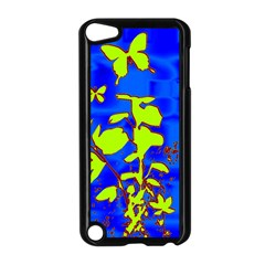 Butterfly blue/green Apple iPod Touch 5 Case (Black)