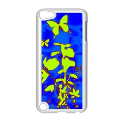 Butterfly blue/green Apple iPod Touch 5 Case (White)