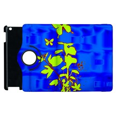 Butterfly blue/green Apple iPad 3/4 Flip 360 Case