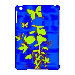 Butterfly Blue/green Apple Ipad Mini Hardshell Case (compatible With Smart Cover)