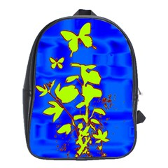 Butterfly Blue/green School Bag (xl)