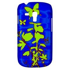 Butterfly blue/green Samsung Galaxy S3 MINI I8190 Hardshell Case