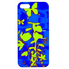 Butterfly blue/green Apple iPhone 5 Hardshell Case with Stand