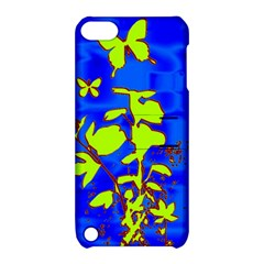 Butterfly blue/green Apple iPod Touch 5 Hardshell Case with Stand