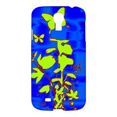 Butterfly blue/green Samsung Galaxy S4 I9500/I9505 Hardshell Case