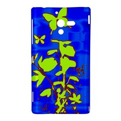 Butterfly blue/green Sony Xperia ZL L35H Hardshell Case