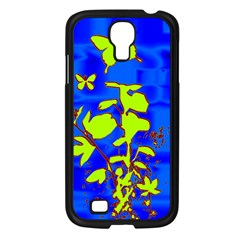 Butterfly blue/green Samsung Galaxy S4 I9500/ I9505 Case (Black)
