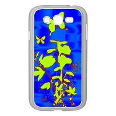 Butterfly Blue/green Samsung Galaxy Grand Duos I9082 Case (white)
