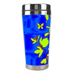 Butterfly blue/green Stainless Steel Travel Tumbler