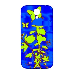 Butterfly blue/green Samsung Galaxy S4 I9500/I9505  Hardshell Back Case