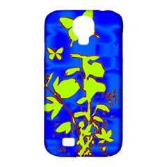 Butterfly blue/green Samsung Galaxy S4 Classic Hardshell Case (PC+Silicone)