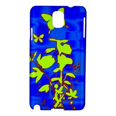Butterfly Blue/green Samsung Galaxy Note 3 N9005 Hardshell Case