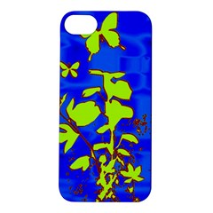 Butterfly blue/green Apple iPhone 5S Hardshell Case