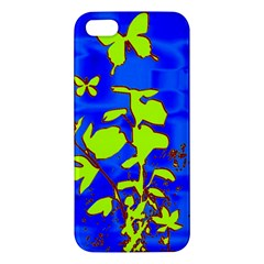 Butterfly blue/green iPhone 5S Premium Hardshell Case