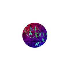 Floral Colorful 1  Mini Button Magnet