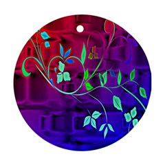 Floral Colorful Round Ornament