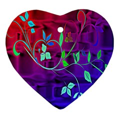 Floral Colorful Heart Ornament