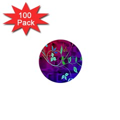 Floral Colorful 1  Mini Button (100 pack)