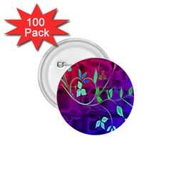 Floral Colorful 1 75  Button (100 Pack)