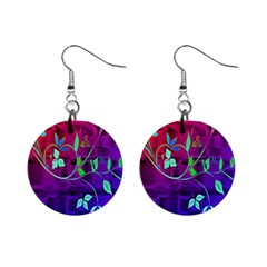 Floral Colorful Mini Button Earrings