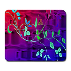 Floral Colorful Large Mouse Pad (rectangle)