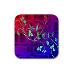 Floral Colorful Drink Coasters 4 Pack (Square)