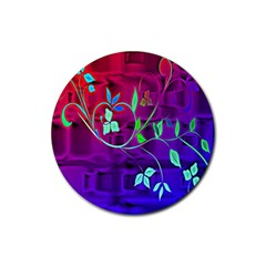Floral Colorful Drink Coaster (Round)
