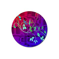 Floral Colorful Magnet 3  (Round)