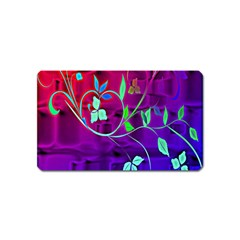 Floral Colorful Magnet (Name Card)