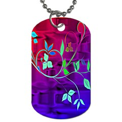Floral Colorful Dog Tag (Two-sided)