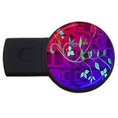 Floral Colorful 4gb Usb Flash Drive (round)