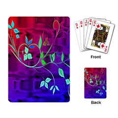 Floral Colorful Playing Cards Single Design