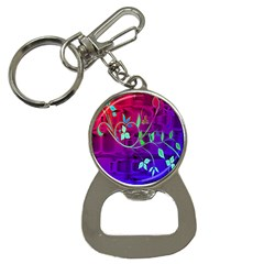 Floral Colorful Bottle Opener Key Chain