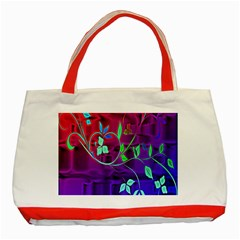 Floral Colorful Classic Tote Bag (Red)