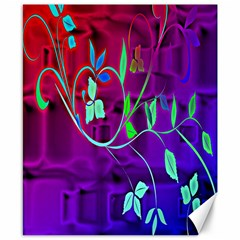 Floral Colorful Canvas 8  X 10  (unframed)