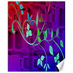 Floral Colorful Canvas 11  X 14  (unframed)
